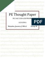 PE Reaction Paper
