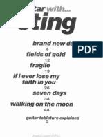 Sting (Guitar Scores)