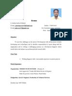 Resume Saravanakumar
