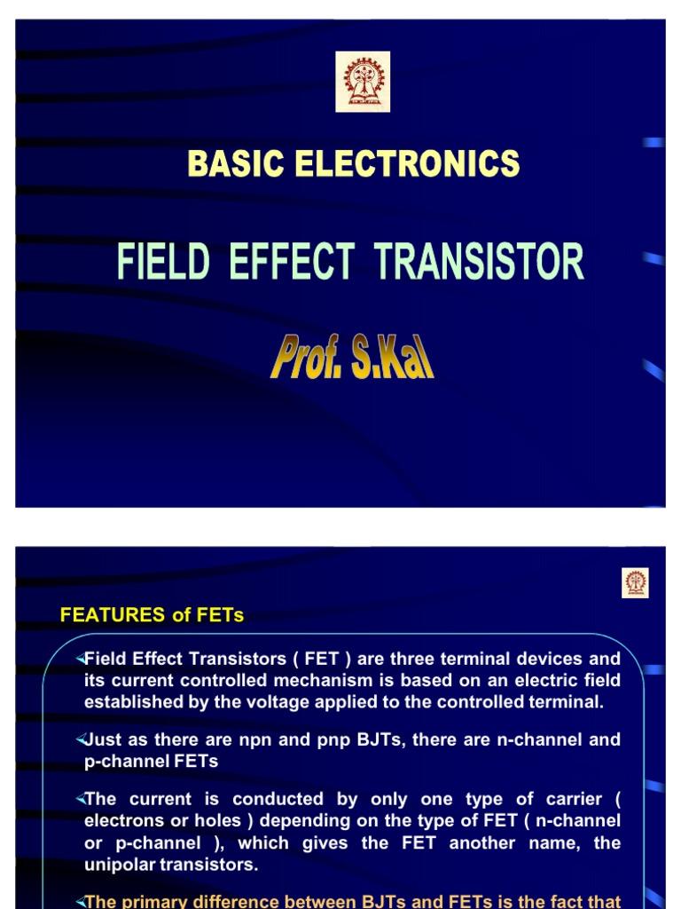 Bel 06 Field Effect Transistor Mosfet Tutorial Circuits
