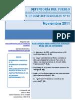 Reporte Conflictos Sociales N°93 - Noviembre 2011