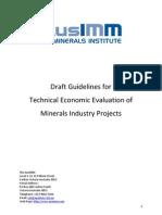 Guidelines Tech Economic Evaluation