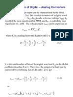 Digital Analog Converters