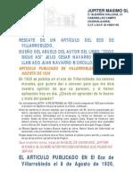 Articulo Sobre Valores Morales Publicado en El Eco de Villarrobledo en 1920_def