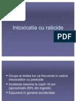 Intoxicatia cu raticide