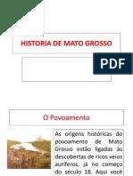 Historia de Mato Grosso Power Point