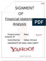 Yahoo Ratio Analysis
