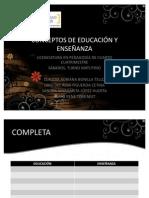 CONCEPTOS DE EDUCACIÓN Y ENSEÑANZA