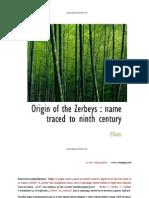 Origin of the Zerbeys