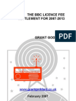 'The BBC Licence Fee Settlement For 2007-2013' by Grant Goddard