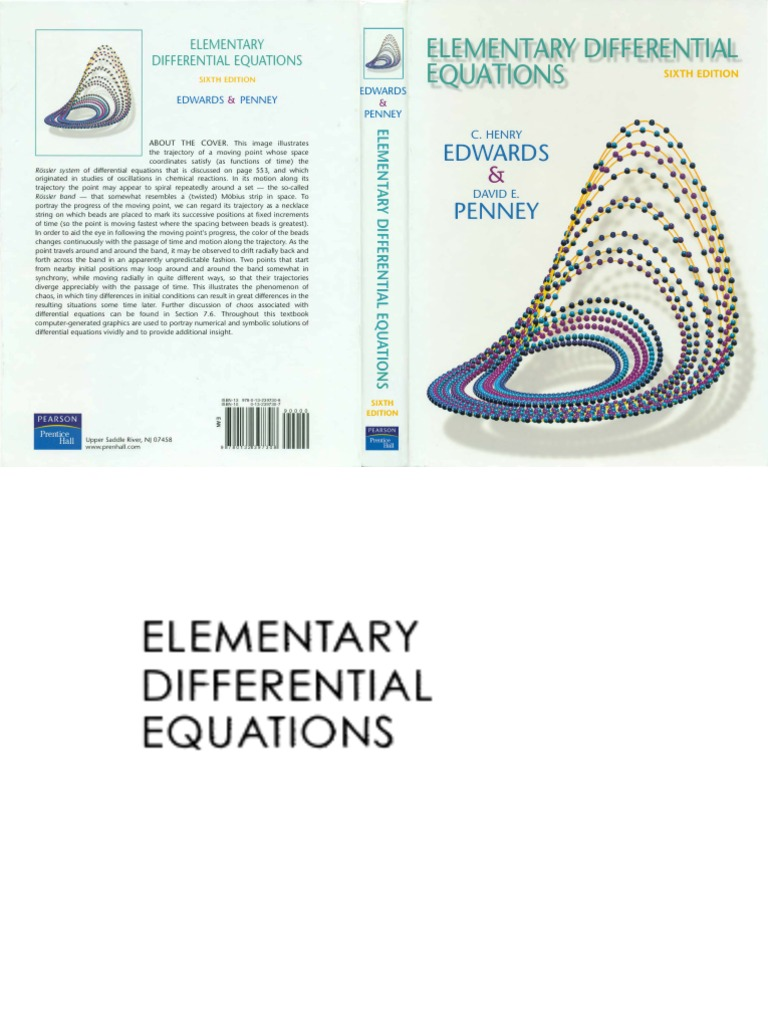 Elementary differential equations 6th edition differential elementary differential equations 6th edition differential equations equations fandeluxe Gallery