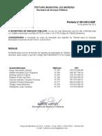 PORTARIA DOS AGENTES DA AUTORIDADE DE TRÂNSITO