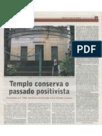 Templo conserva o passado Positivista