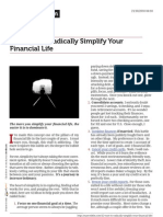 42 Ways to Radically Simplify Your Financial Life