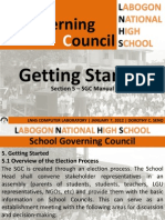 DepEd School Governing Council Manual - Getting Started