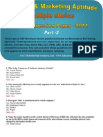 Business & Marketing Aptitude Multiple Choice Questions 2011 - Part 2