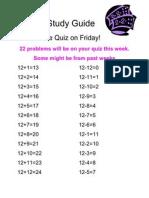 Math Study Guide 12's