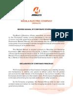 MERALCO - Corporate Governance