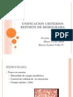 Unificacion Criterios Reporte de Hemograma
