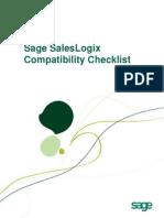 Sage SalesLogix v7.5.3 Compatibility Checklist April2011