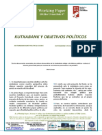 KUTXABANK Y OBJETIVOS POLITICOS - KUTXABANK AND POLITICAL GOALS  (Spanish) - KUTXABANK ETA HELBURU POLITIKOAK (Espainieraz)