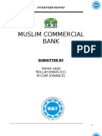 Muslim Commercial Bank Internship Report