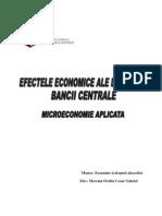 Efectele Economice Ale Disparitiei Bancii Centrale