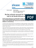 No-Fee Schools Account for More Than Half of All South African Schools - 17 January 2011 (1)