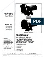 Sears Water Pump Manual