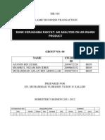 Analysis on Ar-rahnu Product