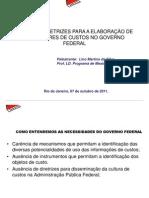 Diretrizes para a Elaboração de Indicadores de Custos no Governo Federal