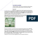 Cara Import File AutoCAD DXF Ke SAP2000