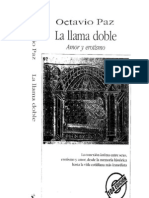 La llama Doble, Octavio Paz. La historia del amor y el erotismo en la literatura