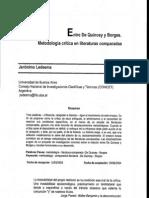 Entre De Quincey y Borges - Metodología crítica en literaturas comparadas (jerónimo Ledesma)