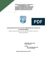 Inteligencias Multiples y Nivel de Competencias Del Docente
