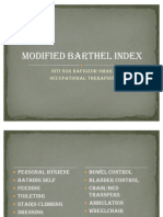Modified Barthel Index
