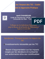 La Mesure de l Impact Des TIC-Chaabouni-FR