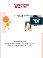 Renap Convention President Report 2011