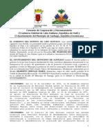 Convenio de Cooperación y Hermanamiento de Santiago y Cabo Haitiano