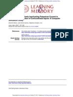 Severine Mahon et al- Role of a Striatal Slowly Inactivating Potassium Current in Short-Term Facilitation of Corticostriatal Inputs