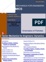 Kinematics of Particles (Ch1 Dynamics Chapter 11 Beer7)