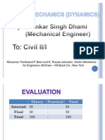 Applied Mechanics Dynamics) Course Outline