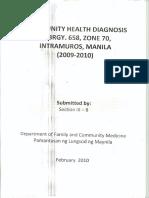 Community Health Diagnosis 0001