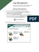 Acer eSettings Management