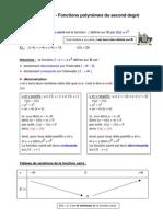 fonction carré - polynômes du second degré (2nde)