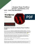 Tutorial Cara Membuat Theme WordPress Sendiri - Full Tutorial