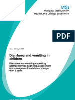Diarrhoea and Vomiting Under 5.NICE Guideline[1]