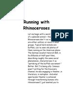 Running With Rhinoceroses