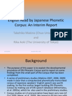 English Read by Japanese Phonetic Corpus