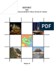 Final Report on China